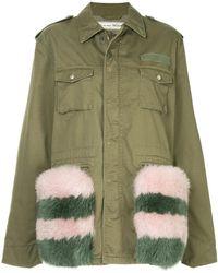 Tu Es Mon Tresor - Fox Fur Trim Field Jacket - Lyst
