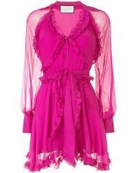 Alexis Ruffle Trim Dress - Pink