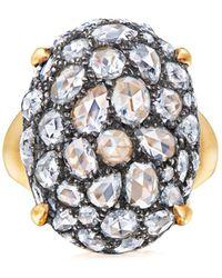 Fred Leighton Bague en or 18ct ornée de diamants - Métallisé