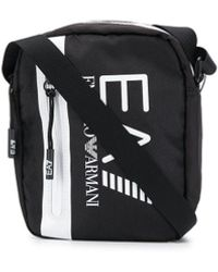 EA7 Logo-print Messenger Bag - Black