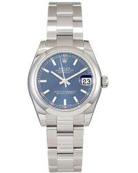 Rolex Наручные Часы Oyster Perpetual Datejust Pre-owned 31 Мм - Синий