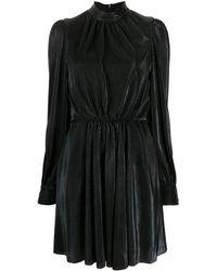 MSGM Платье С Пышными Рукавами - Черный
