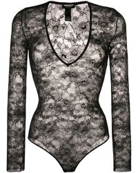 DSquared² Lace Bodysuit - Black