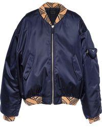 Prada Re-nylon ボンバージャケット - ブルー