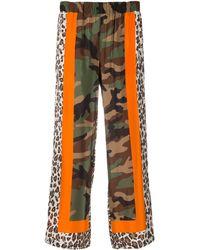 P.A.R.O.S.H. Samuflage パッチワーク パンツ - グリーン