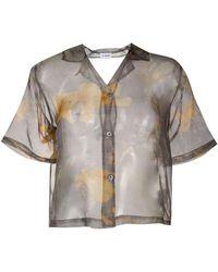 Soulland Chemise transparente à fleurs - Gris