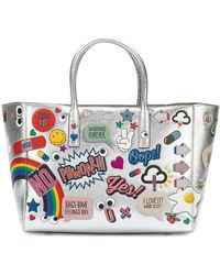 Anya Hindmarch All Over Stickers Ebury トートバッグ - メタリック