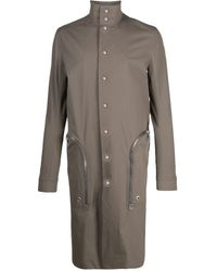 Rick Owens Zipped Pocket Trench Coat - Gray