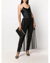 Loulou チュールスカート レイヤードパンツ - ブラック
