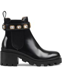 8a125df4ade Lyst - Gucci Boots - Women s Ankle Boots   Leather Boots