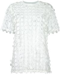 Carven Lace Detail Blouse - White