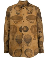 Uma Wang Camicia con stampa - Marrone