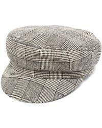 Isabel Marant チェック ベレー帽 - マルチカラー