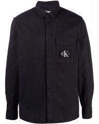 Calvin Klein Рубашка С Карманом И Нашивкой-логотипом - Черный