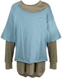Facetasm レイヤード Tシャツ - ブルー