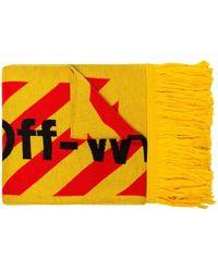 Off-White c/o Virgil Abloh Sjaal Met Logo - Geel