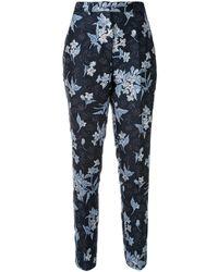 Delpozo Jacquard Print Trousers - Blue