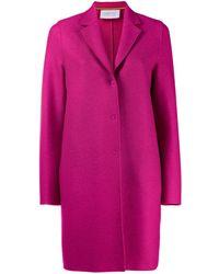 Harris Wharf London Single-breasted Coat - Pink