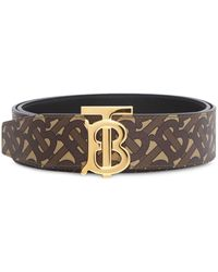 Burberry Monogram Reversible Belt - Brown