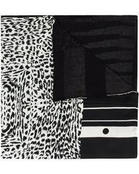 Pierre Louis Mascia マルチプリント スカーフ - ブラック