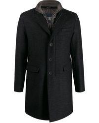 Herno ボタン コート - ブラック