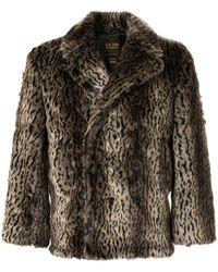 Supreme Schott Faux Fur Peacoat Fw17 - Brown