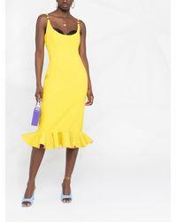 Versace Платье С Оборками - Желтый