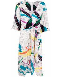Essentiel Antwerp タイディテール ドレス - ホワイト