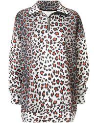Marques'Almeida - Oversized-Sweatshirt mit Leo-Print - Lyst