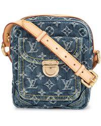 Louis Vuitton Каркасная Сумка На Плечо - Синий