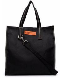 Heron Preston Logo-patch Tote Bag - Black