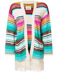 Laneus Mexico Stripe Cardigan - Blue