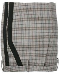A.F.Vandevorst - Checked Mini Skirt - Lyst