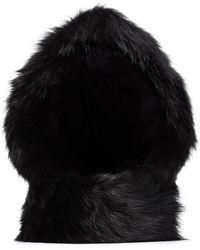 Chloé Faux Fur Reversible Hood - Black