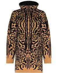 Givenchy Turtleneck Cheetah Jacquard Jumper - Brown