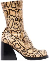 Chloé Adelie 90mm Snake-effect Boots - Multicolor