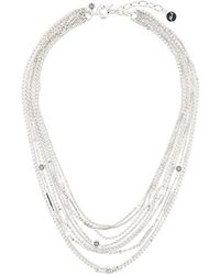 Karl Lagerfeld - Multiple Chain Necklace - Lyst
