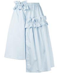 Paskal - Ruched Asymmetrical Skirt - Lyst