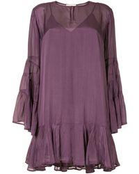 Mes Demoiselles Tiered Shift Dress - Purple