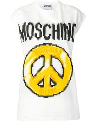 Moschino Logo print tank top - Weiß
