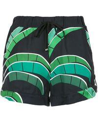 Amir Slama Tropical print shorts - Negro