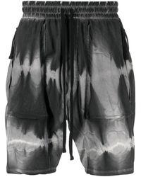 Thom Krom Tie-dye Print Shorts - Black