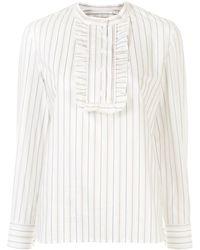 A.P.C. Madeleine Jacquard Stripe Blouse - Black