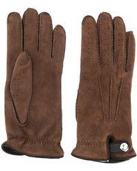 Brunello Cucinelli Handschoenen Met Borduurwerk - Bruin