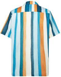 Desmond & Dempsey Camisa de pijama Medina a rayas - Azul
