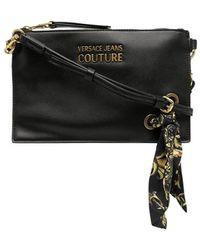 Versace Jeans Couture Sac à bandoulière à détail de foulard - Noir