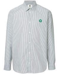 WOOD WOOD - Striped Logo Shirt - Lyst