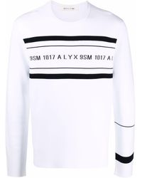 1017 ALYX 9SM ロゴ スウェットシャツ - ホワイト