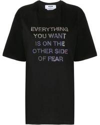 MSGM - スローガン Tシャツ - Lyst