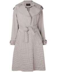 Cedric Charlier - Checked Trench Coat - Lyst